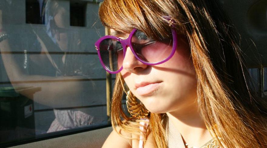 Katia rousse lunette rose