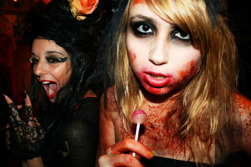Katia en sang Halloween