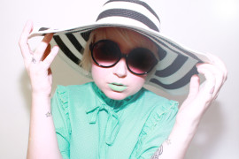 Rouge à lèvre vert pastel menthe Lime Crime