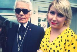 Katia et Karl Lagerfeld