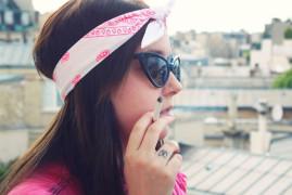 Katia bandana rose