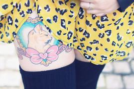 Léopard robe et tattoo