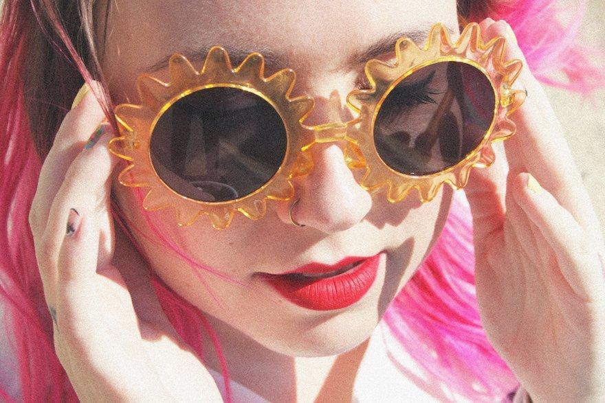 lunettes forme soleil