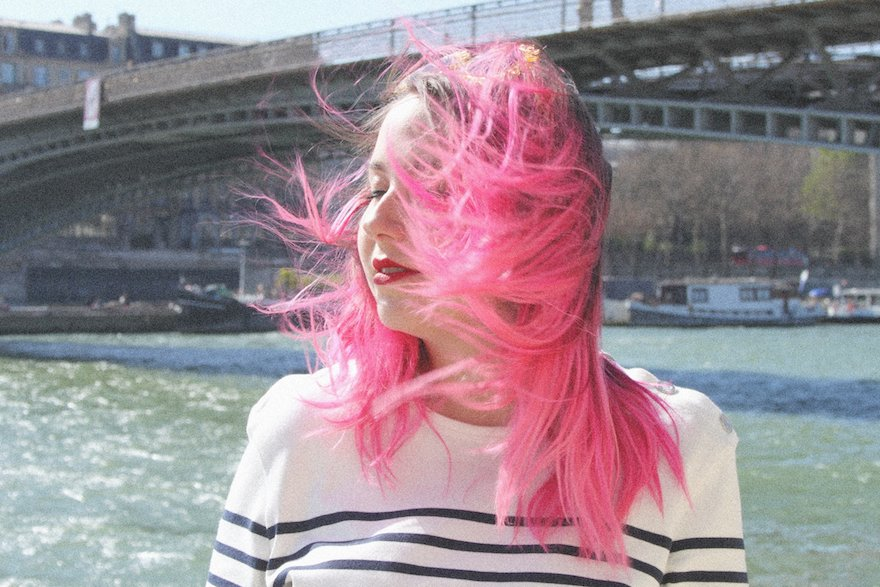 mariniere jean paul gaultier cheveux roses