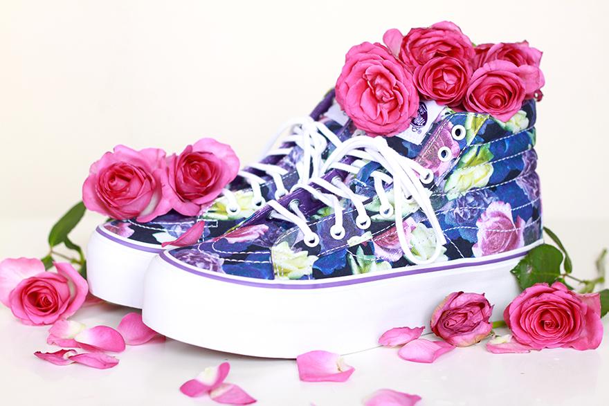 vans sk8 hi platform roses pastel