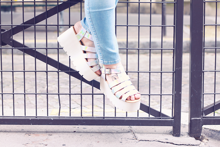 holographic ark sandals