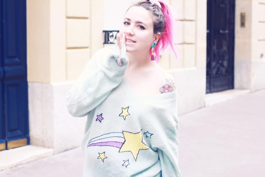 wildfox stars jumper