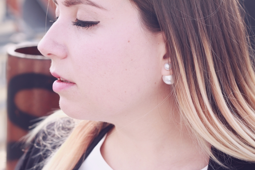 Boucle d'oreille en perle dior