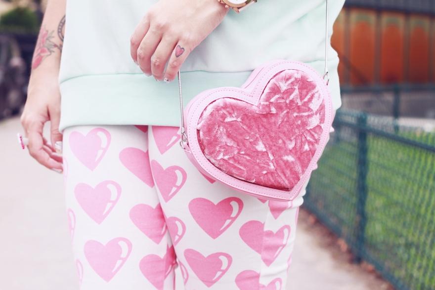 lazy oaf hearts pants