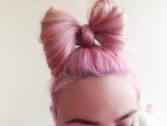 noeud cheveux lady gaga
