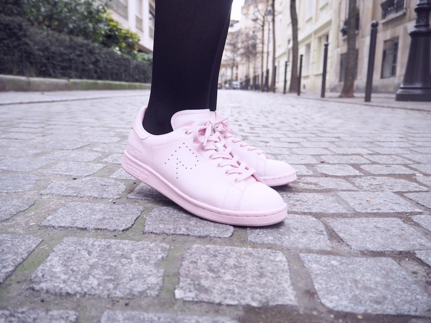 Adidas Rose Pale Et Blanche