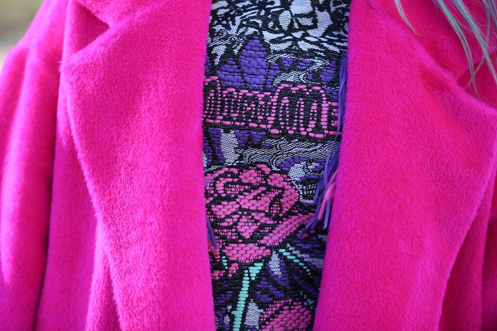 Bright pink coat