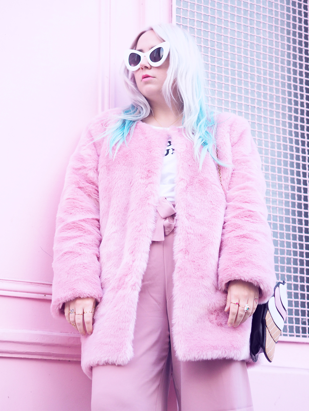 Fashion Pastel Outfit Wearing Culottes And Sneakers Fila