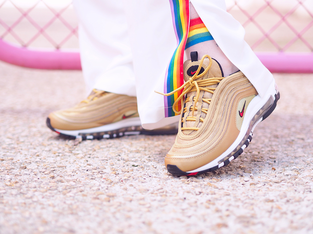 asos air max 97 nike gold