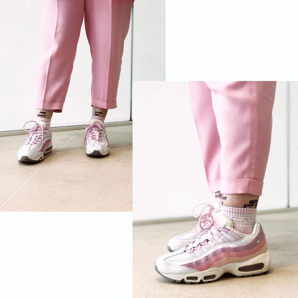 nike air max 95 pink pastel