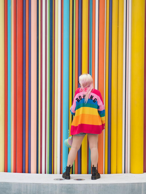 lazy oaf boring rainbow dr martens sinclair