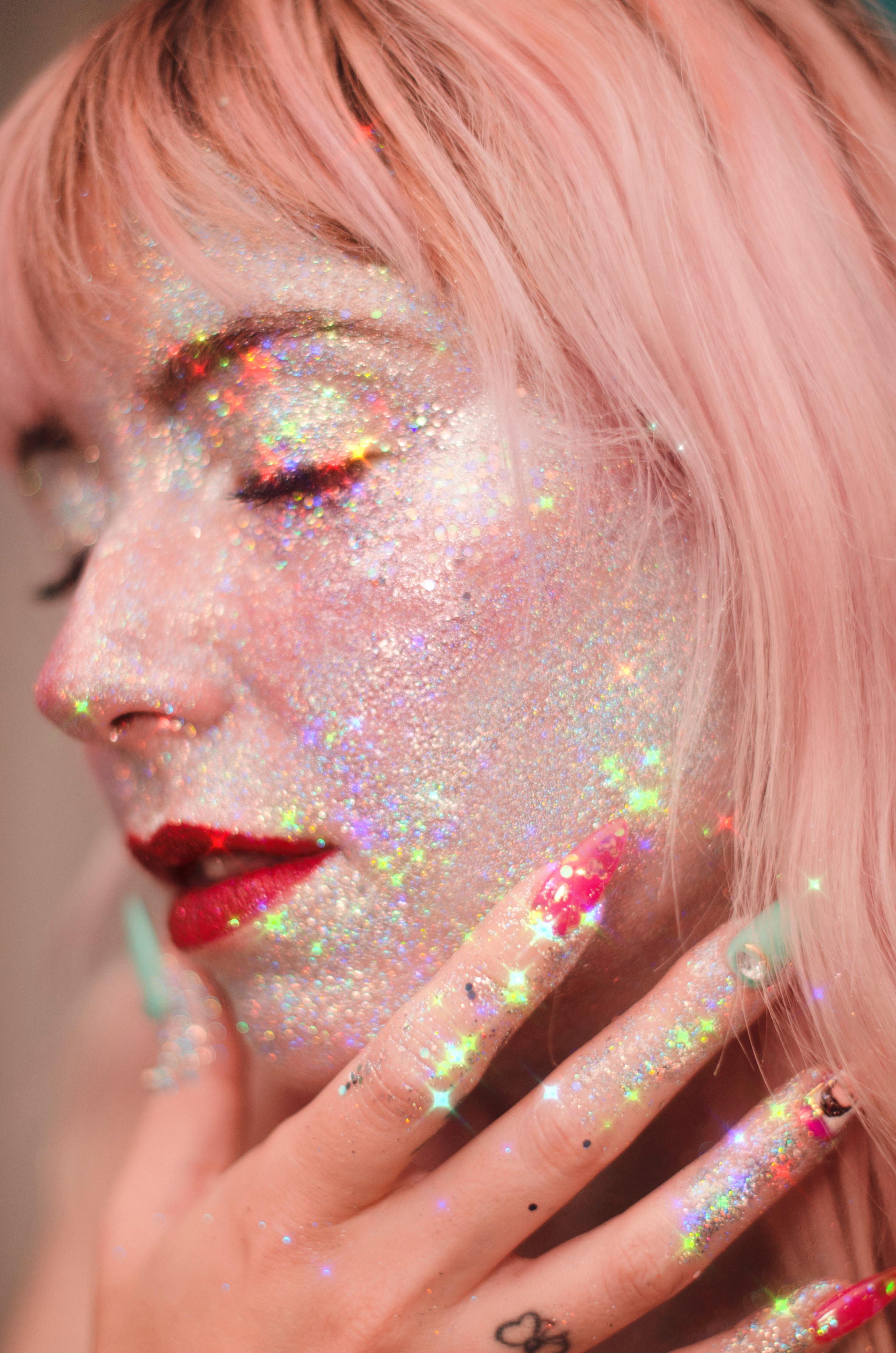 full glitter face