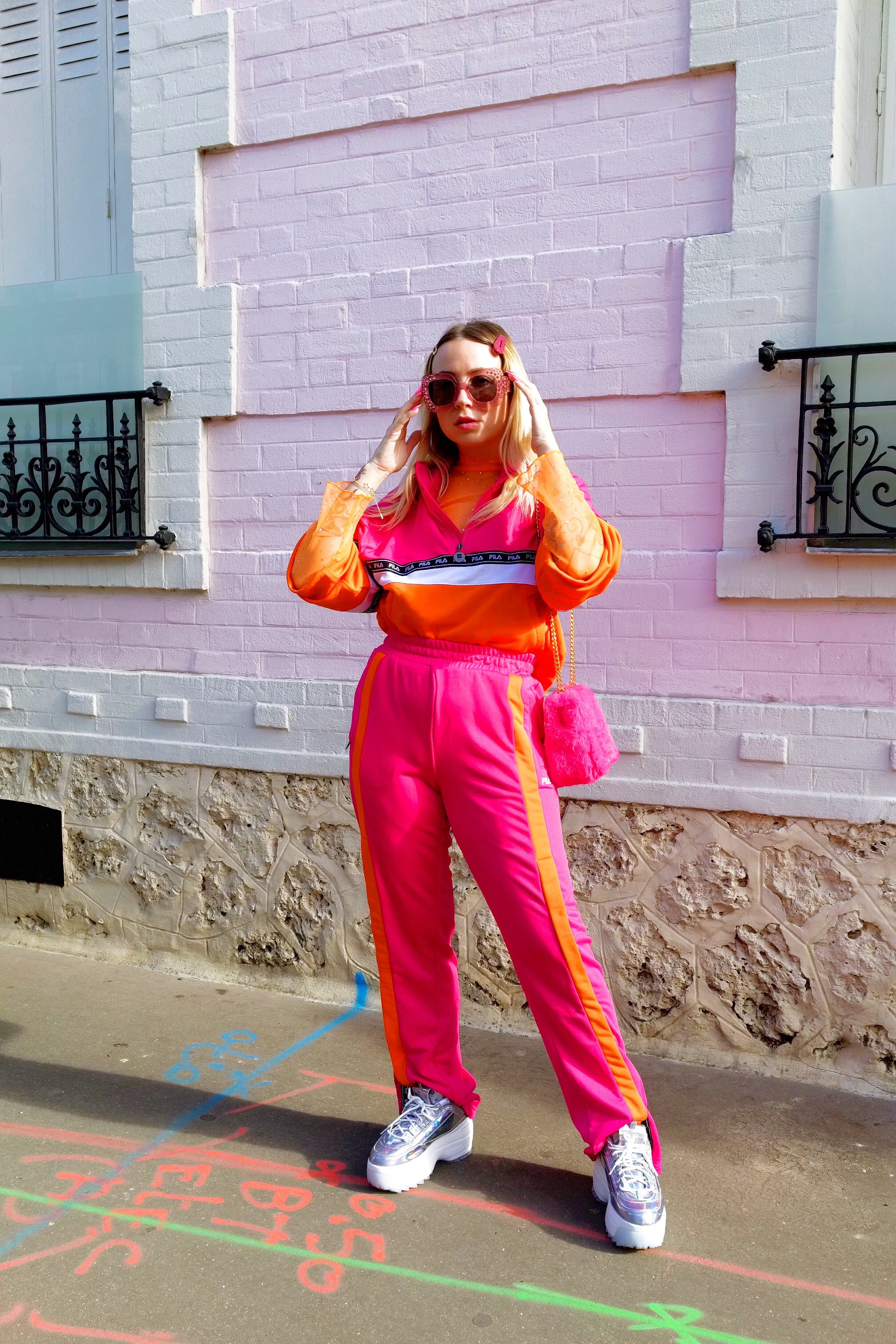 Fila outfit pink orange